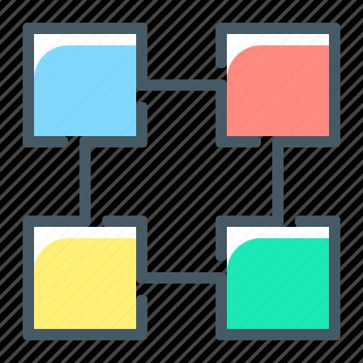 block, blockchain, data, database icon