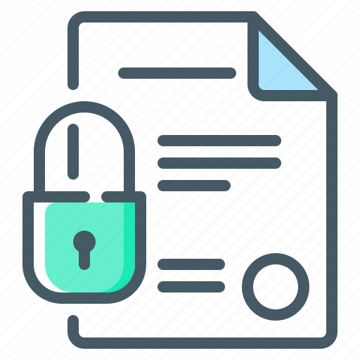 contract, cryptocurrency, digital, digital contract, document, lock icon