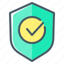 check mark, encryption, secure, security, shield icon