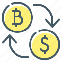 coins, cryptocurrency, currency, exchange, finance, money icon