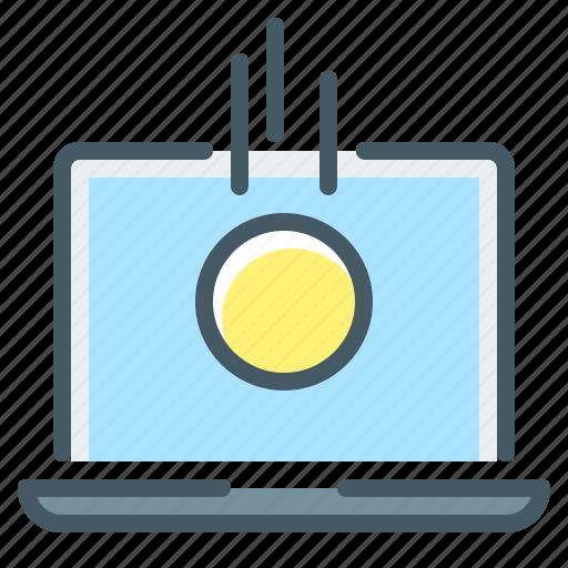 coin, coins, income, laptop, macbook icon