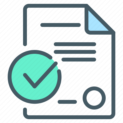 check mark, contract, document, smart, smart contract icon