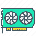 hardware, mining, video, video card icon