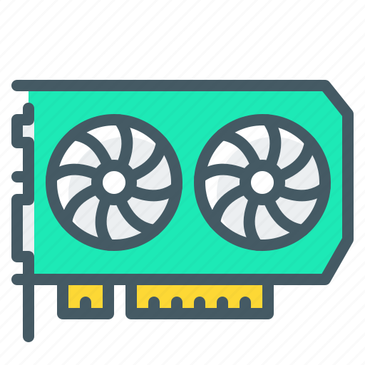 hardware, mining, video, video card icon