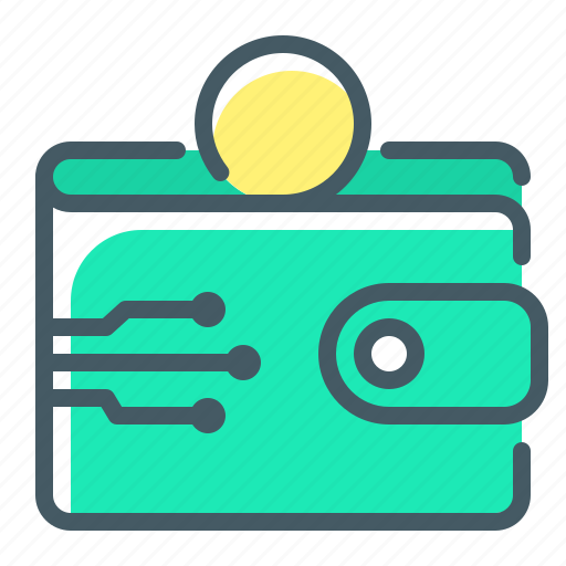 cryptocurrency, money, online, online wallet, purse, wallet icon