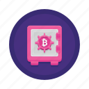 bitcoin, cryptocurrency, storage icon