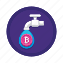 coin, cryptocurrency, faucet icon