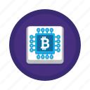 cpu, cryptocurrency, mining icon