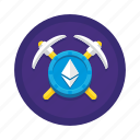 cryptocurrency, ethereum, mining icon