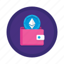 cryptocurrency, ethereum, wallet icon