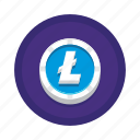 bitcoin, cryptocurrency, litecoin icon