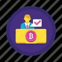 cryptocurrency, otc, trading icon