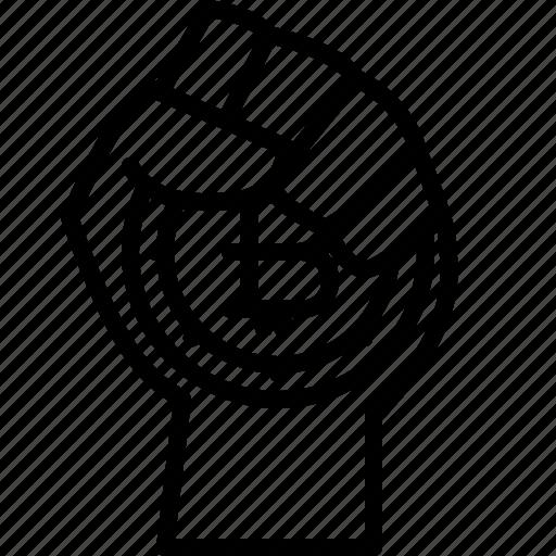 bit, bitcoin, byte, fist, hodl, hold on for dear life icon
