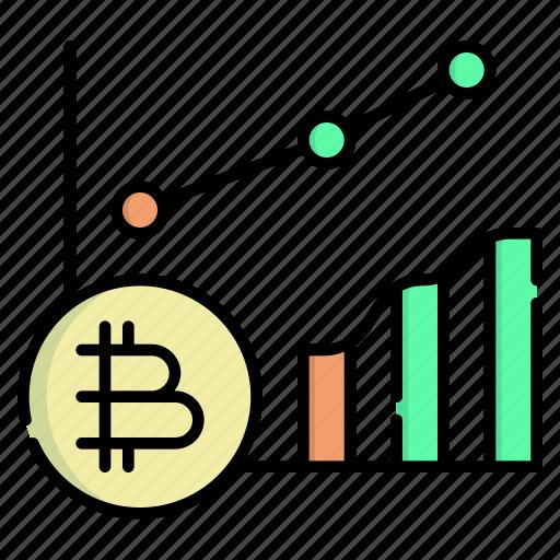Cryptocurrency, market, analytics, analysis, graph, chart, statistics icon - Download on Iconfinder