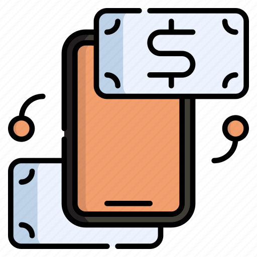Transaction, transfer, money, mobile, smartphone, pay, exchange icon - Download on Iconfinder