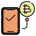 cryptocurrency, market, transfer, receive, mobile, transaction, smartphone