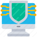 computer, cryptography, cyber, security icon