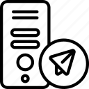 cryptography, send, sender icon