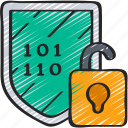 cryptography, cyber, decryption, security icon