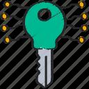 crypto, cryptography, encrypt, key icon
