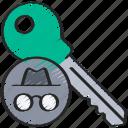 cryptography, encrypt, key, secret icon