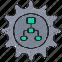 algorithm, configure, cryptography, settings icon