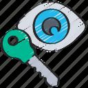 cryptography, encrypt, key, public icon