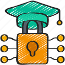 cryptography, degree, education, lock icon