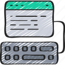 code, cryptography, keyboard, write icon
