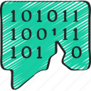 binary, break, coded, cryptography, message icon