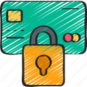 cryptography, lock, payment, secure icon