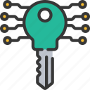 crypto, cryptography, encrypt, key icon