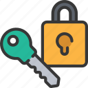 cryptography, cyber, lock, security icon