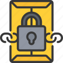 confidential, cryptography, file, lock icon