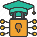 cryptography, degree, education, lock icon