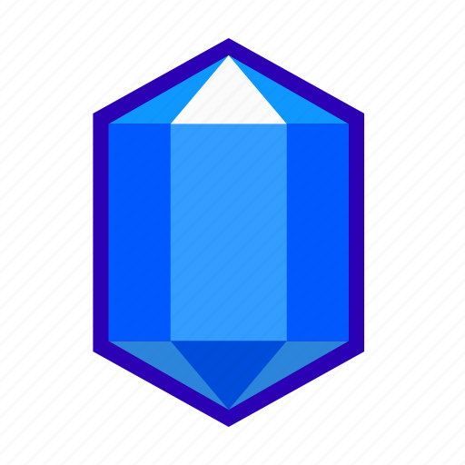 blue, crystal, gem, glass, mineral, sapphire, stone icon