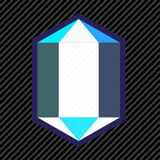 crystal, diamond, gemstone, glass, ice, precious, stone icon