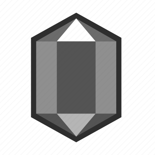 crystal, deposits, diamond, fossil, graphite, heavy, ore icon