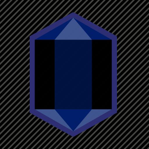 crystal, gem, indigo, jewellery, jewelry, precious, stone icon