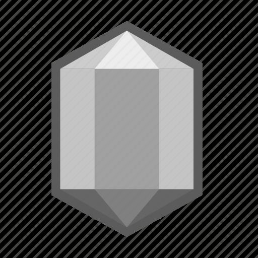 aluminium, crystal, iron, materials, metal, mineral, resources icon
