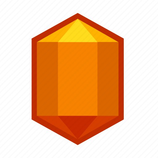 amber, crystal, mineral, orange, stone, succinite, zirconium icon
