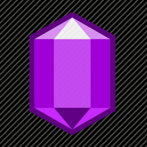 crimson, crystal, magic, precious, purple, scarlet, stone icon