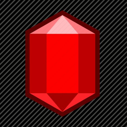 carbuncle, crystal, garnet, gemstone, red, ruby, stone icon