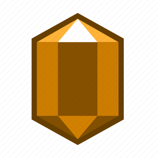 agate, amber, brown, crystal, mineral, stone, topaz icon