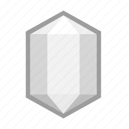 crystal, mineral, opal, pearl, stone, white, winter icon