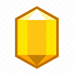 calcite, crystal, lemons, mineral, stone, yellow icon