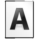 file, font, letter, w icon