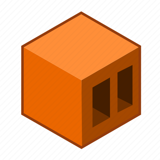 airbrick, brick, bricklaying, brown, cube, red, wall icon