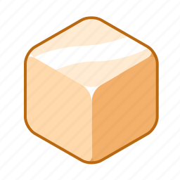 butter, cube, fat, food, grease, lard, margarine icon