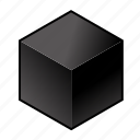 c, carbon, chemical element, coal, cube, dark, graphite icon
